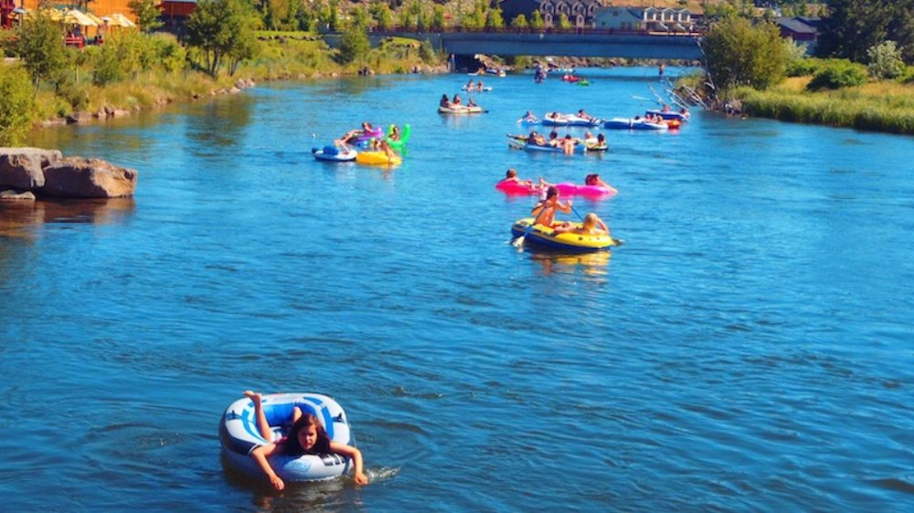 Floating on the Deschutes River